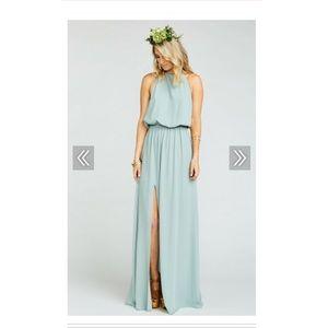 Show Me Your MuMu Heather Halter Dress- Size Small